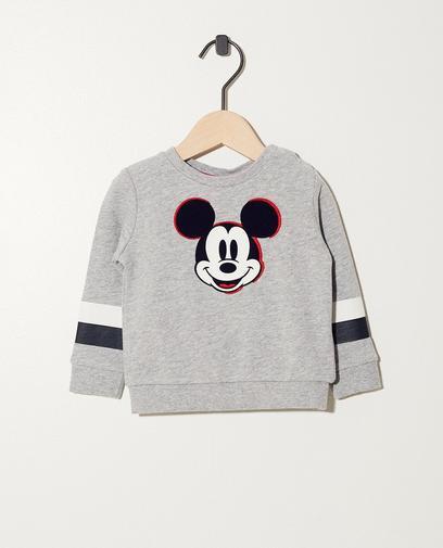 Sweater mit Print + Streifen